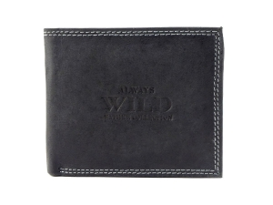 41e8b4d2d1b2b Czarny męski portfel skórzany Always Wild N251-HM BLACK
