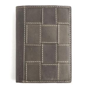 3adb56b94b7e2 Brązowy męski portfel skórzany Nubuk Peterson 115 4-1-4