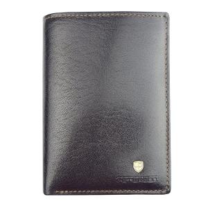 caa014c2f42e9 Ciemny brązowy męski portfel skórzany Peterson 313-2-2-1
