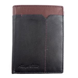 Skórzany męski portfel Always Wild 326-FS Czarny   Bordowy 4b6186ae54d