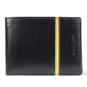 568ec6bf5a12d Czarny męski portfel skórzany Peterson 304-R-2-1-1