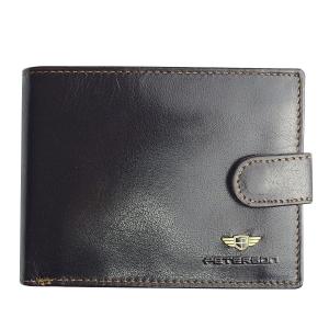 2fcfb9ac03269 Brązowy męski portfel skórzany Peterson 334-2-2-1B