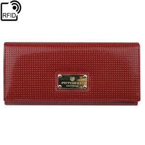 b98b43c5ca870 Czerwony damski portfel skórzany Peterson PD 467 RFID