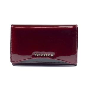 527176bfc2fe2 Czerwony damski portfel skórzany Peterson BC 450 R