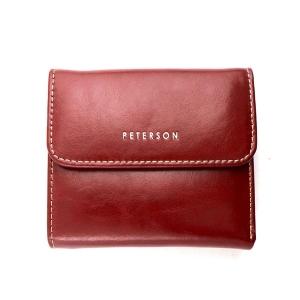 3e9eccddb0fe6 Czerwony damski portfel skórzany Peterson PL 441-1 R