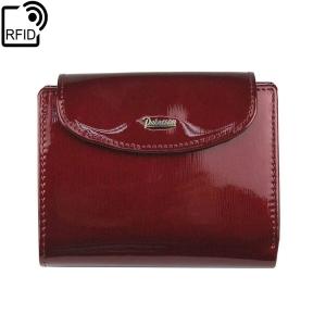 6d5a3fb207765 Mały damski czerwony portfel skórzany Peterson BC 405 RFiD