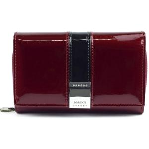b3392811550ed Czerwony lakierowany portfel Lorenti GF 112-SH RED
