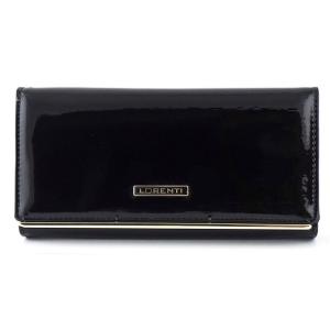 2ca313a81e860 Czarny lakierowany damski portfel skórzany Lorenti 64003 SH C