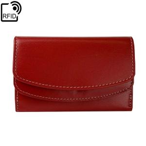 29dac7bf0e513 Czerwony damski portfel skórzany Lorenti RD-14-BAL-NL RFID