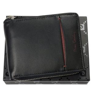 82058f8f04479 Zasuwany portfel męski skórzany Pierre Cardin TILAK 07 8818 bordo