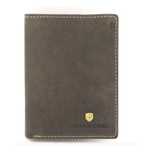 1636bd0962454 Brązowy męski portfel skórzany Peterson 331 | Sklep Internetowy ...