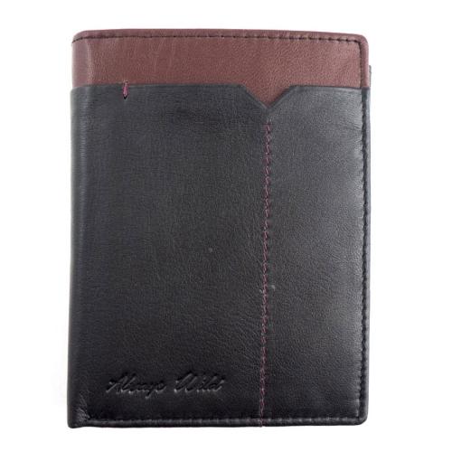 635ed9251d7da Skórzany męski portfel Always Wild 326-FS Czarny   Bordowy