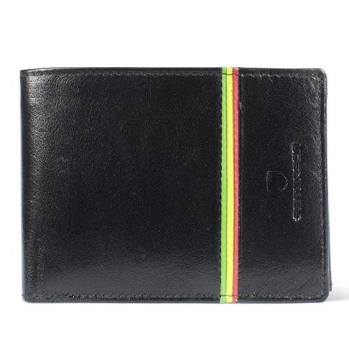 607b81743e712 Czarny męski portfel skórzany Peterson 304-R-2-1-1