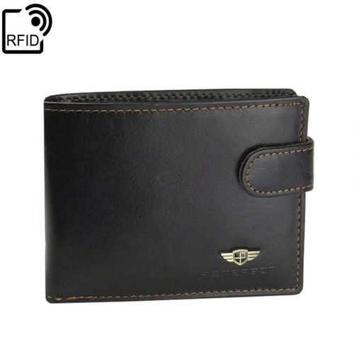 932da07c6d22d Polecasz  Brązowy męski portfel skórzany Peterson 355-RFID-2-2-1