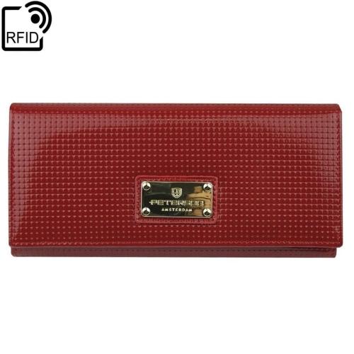 5d74533bc0ed0 Czerwony damski portfel skórzany Peterson PD 467 RFID