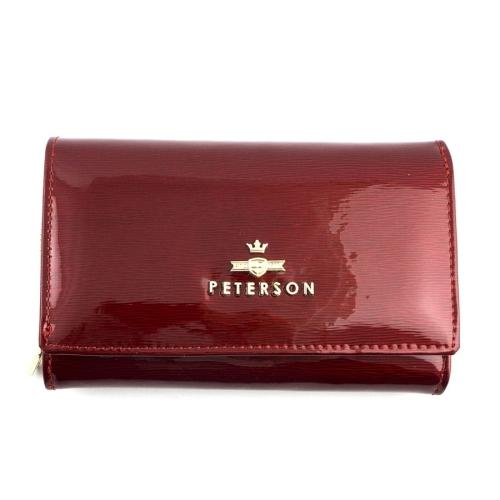 aa30456c6b545 Polecasz  Czerwony damski portfel skórzany Peterson ...