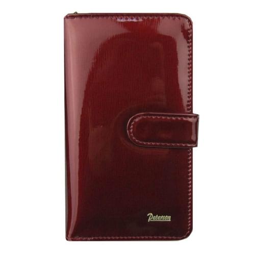 880abeb653d61 Polecasz  Czerwony damski portfel skórzany Peterson ...