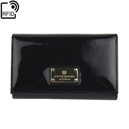 f7d813a536a05 Damski czarny portfel skórzany Peterson BC 466 RFID | Sklep ...
