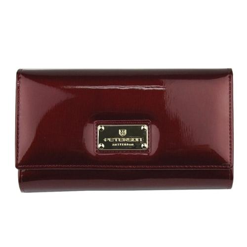 78bde5698bfd5 Damski czerwony portfel lakierowany Peterson BC 453 RED | Sklep ...