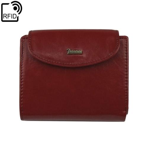 b962b652311be Mały damski czerwony portfel skórzany Peterson PL 405 RFiD