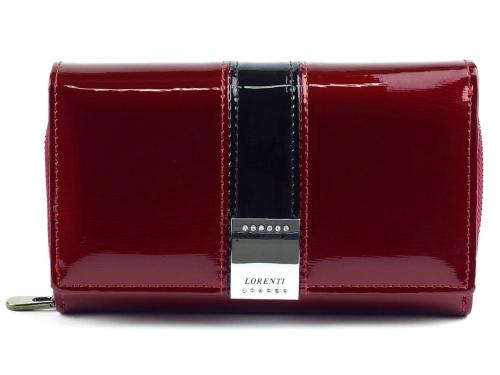 fe9bdc4b29fe3 Duży czerwony lakierowany portfel Lorenti GF 112-SH RED