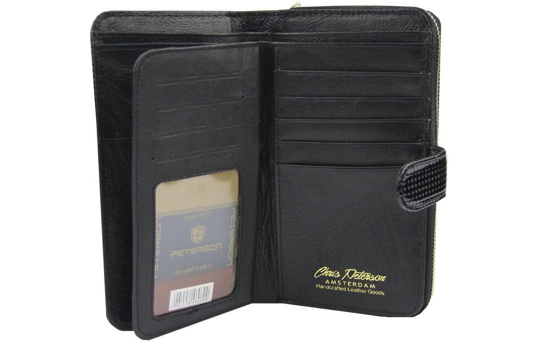 3db18e9e7d662 Czarny damski portfel skórzany Peterson PD 603 | Sklep Internetowy ...