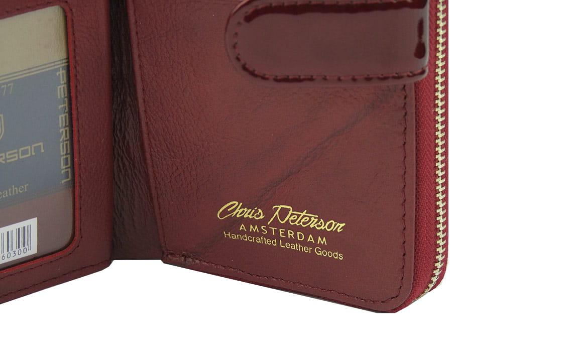 c2706b45436af Czerwony damski portfel skórzany Peterson BC 603