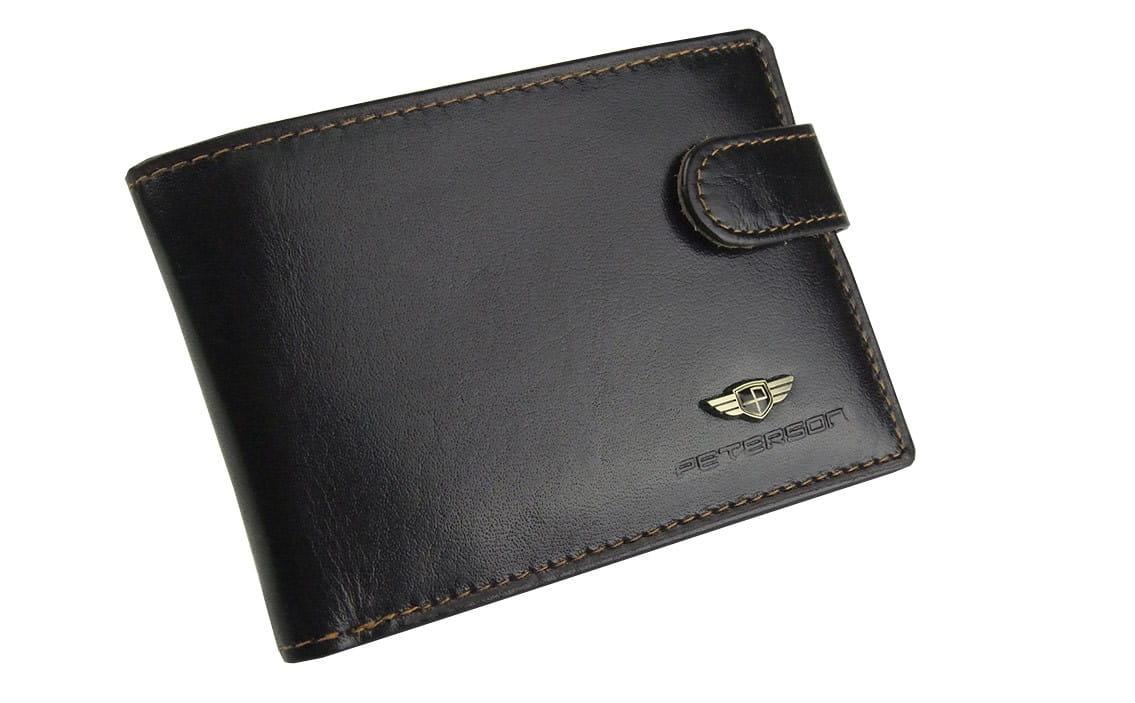 6526eb422d973 ... skórzany Peterson  portfel cienki męski skórzany ...