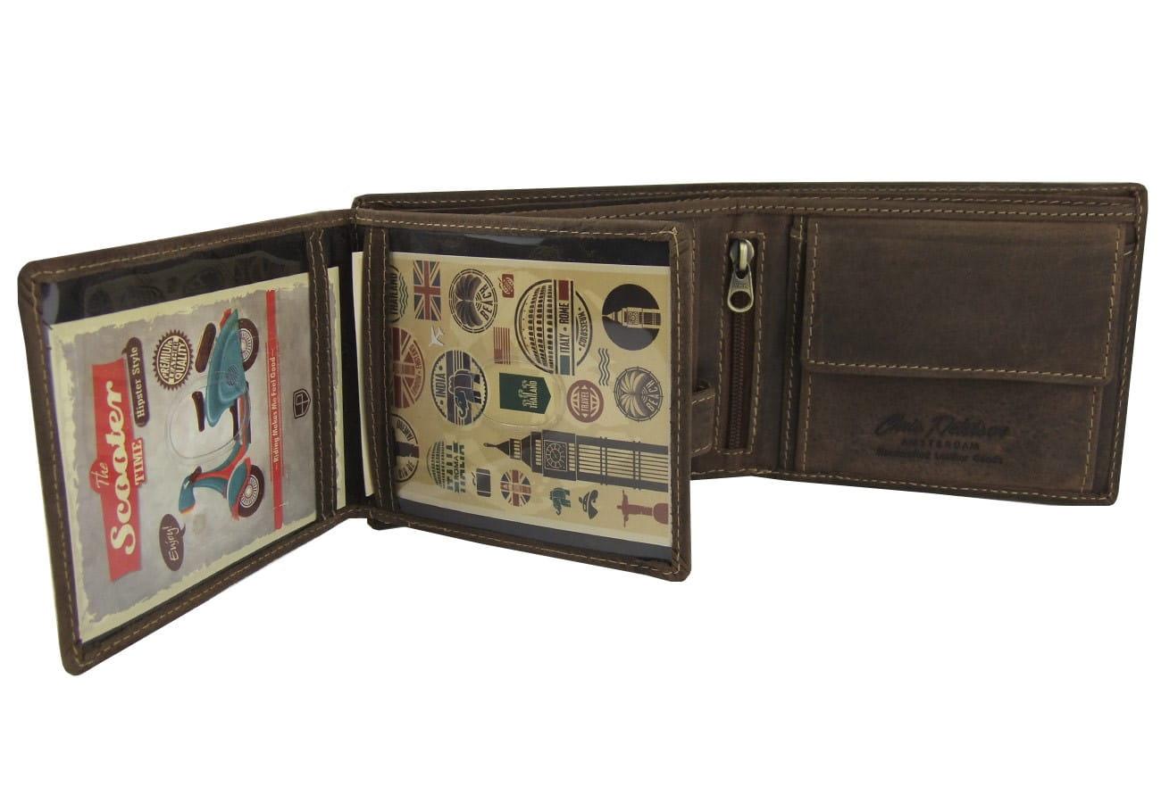 4d6619445e469 Brązowy męski portfel skórzany Peterson 304-2-1-4 A