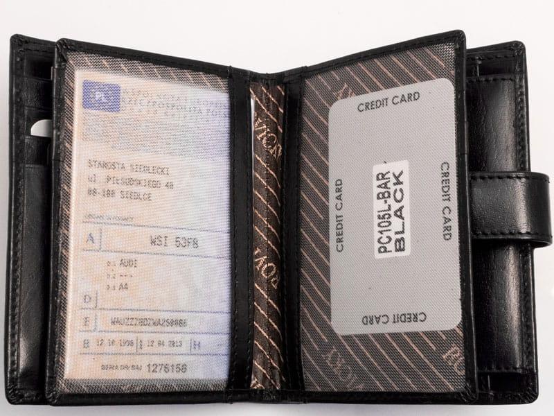 0c932829a13e1 ... Męski portfel z miejscem na dowód rejestracyjny pojazdu · Elegancki męski  portfel ze skóry naturalnej ...