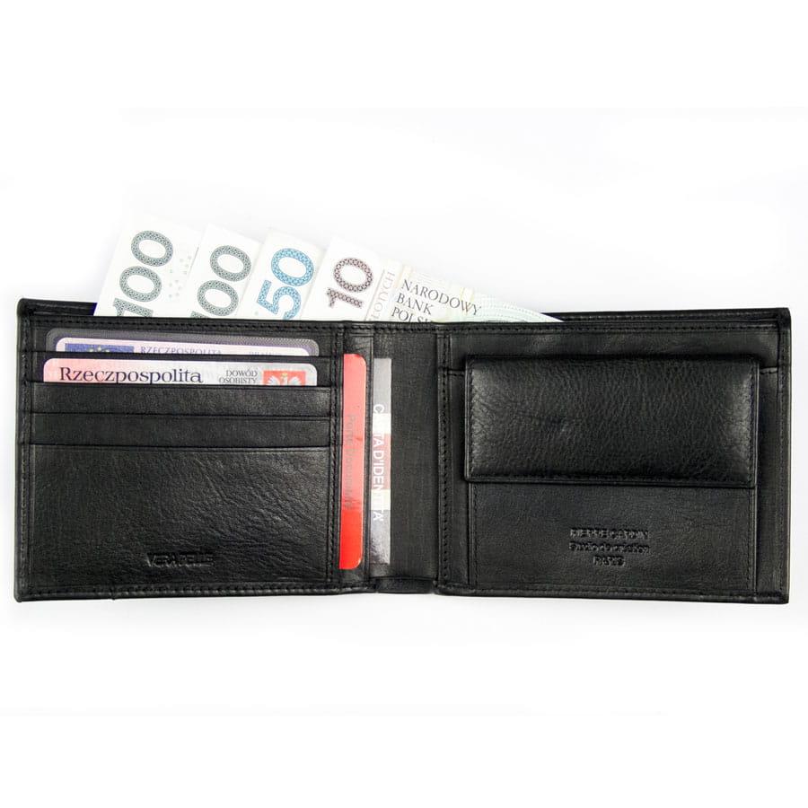 e50c05ecba5ee Czarny męski portfel skórzany · Portfel męski portfel skórzany ...