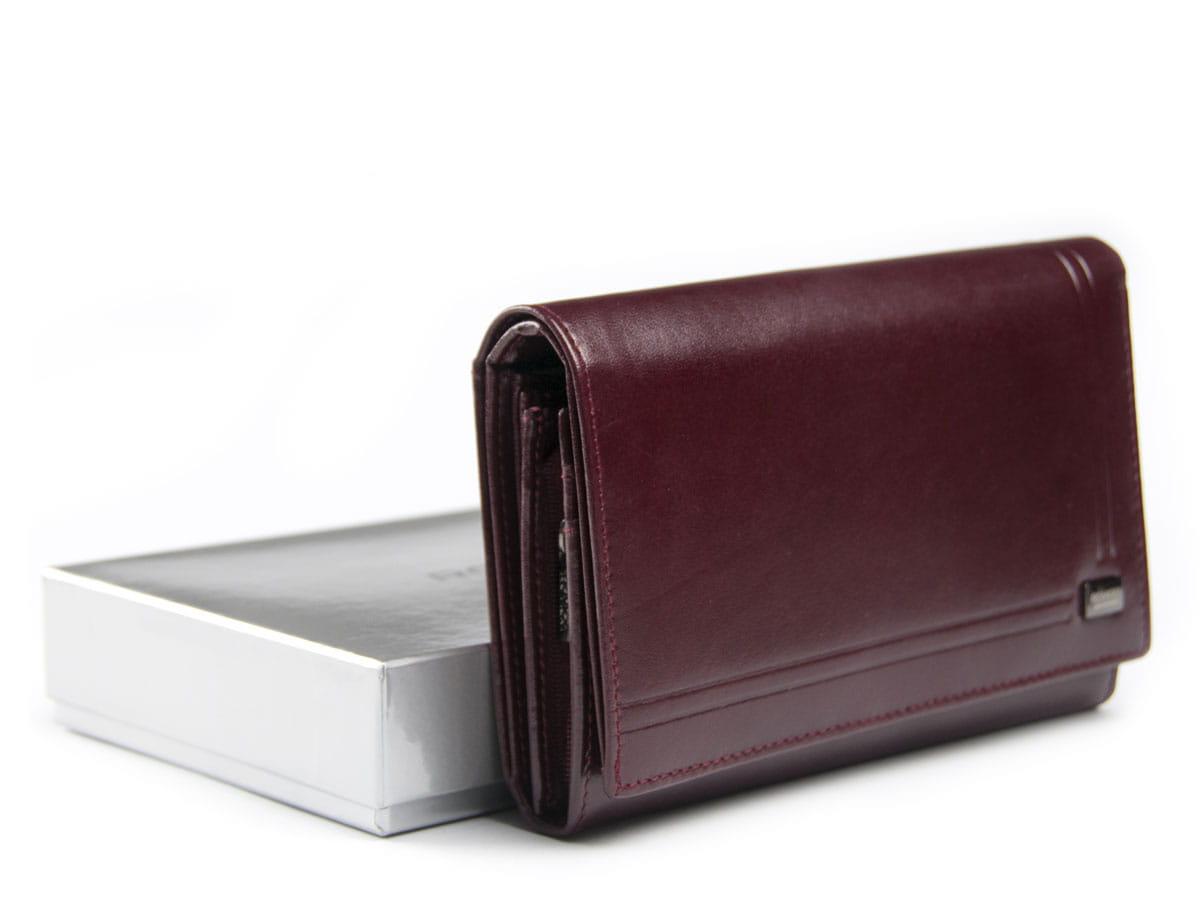 2a409c1e56980 Duży damski portfel skórzany kopertówka Rovicky 001 W