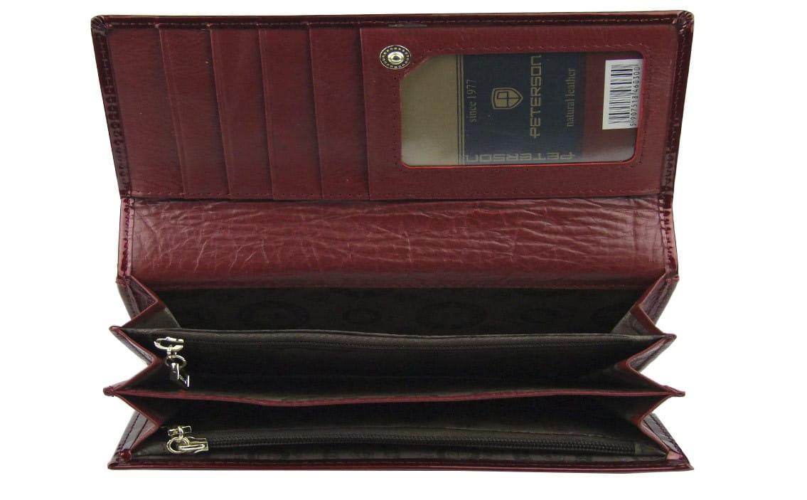 0ee75ed4a9fc2 Damski czerwony portfel lakierowany Peterson BC 453 RED | Sklep ...