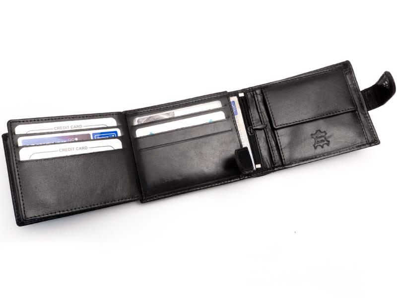 295df7b5932d1 ... Pojemny portfel męski z dużą ilością kieszonek na karty i dokumenty ...