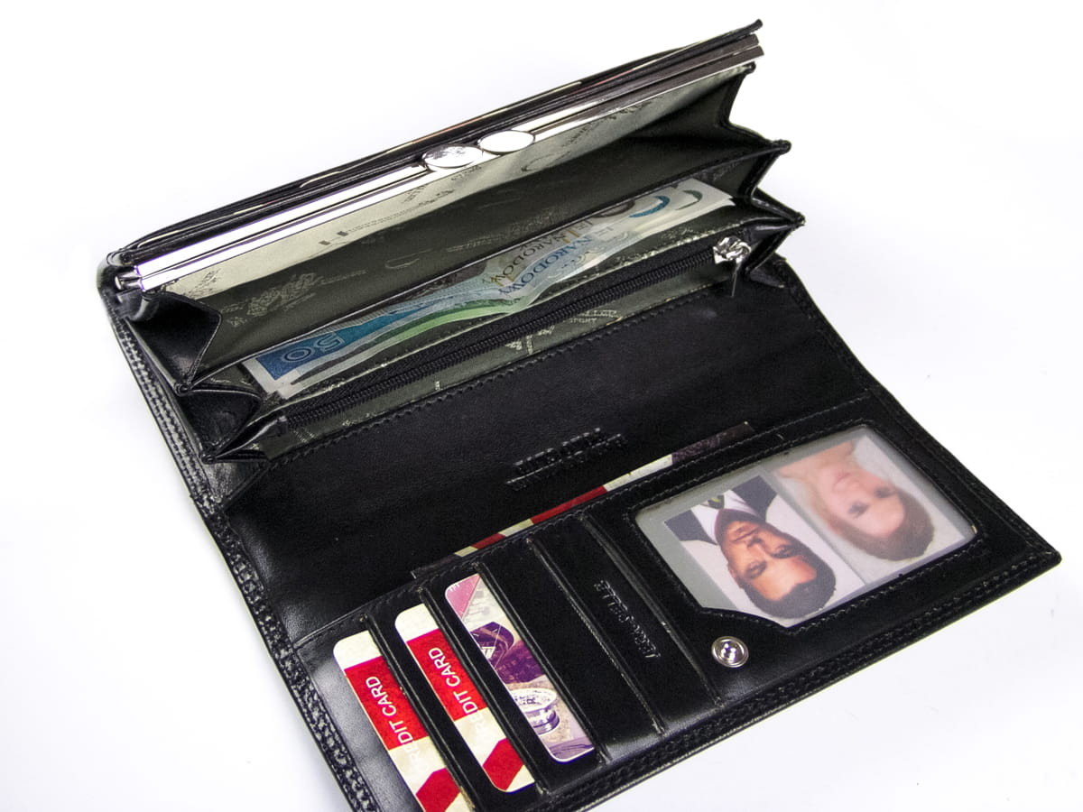 5682109c6f6e3 Duży damski skórzany portfel dla kobiet Harvey Miller 3820 PL11 C
