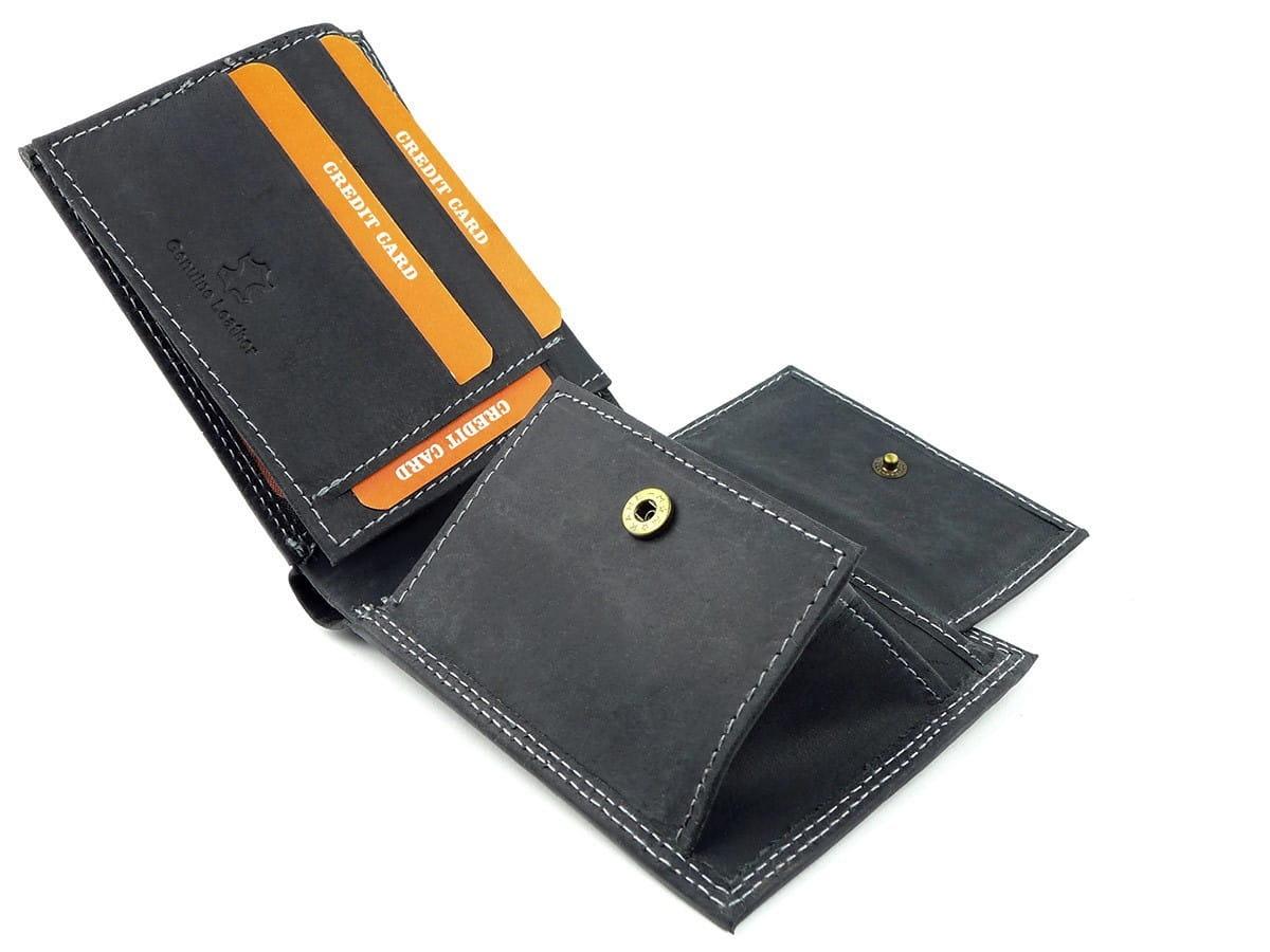ca9f10b0751b7 Czarny męski portfel skórzany Always Wild N251-HM BLACK