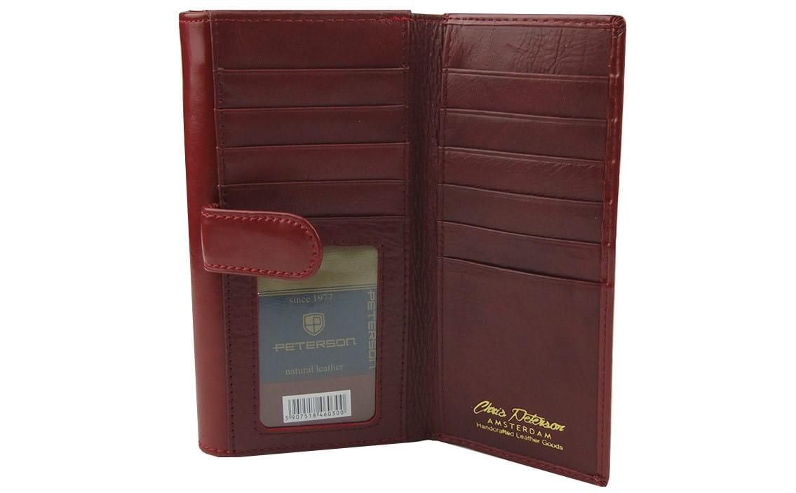 a797f3ba9299d Damski czerwony portfel skórzany Peterson PL 453 | Sklep Internetowy ...