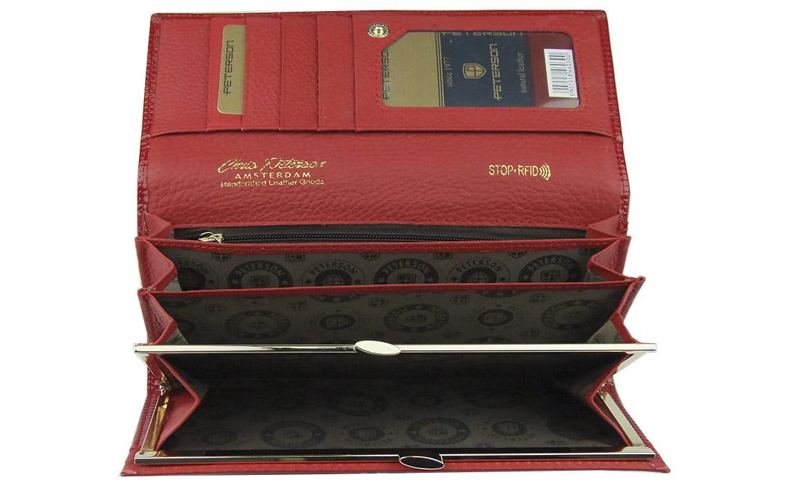 df9e9d8ae7076 ... Markowy damski portfel skórzany peterson  portfel damski skórzany  zabezpieczenie RFID ...