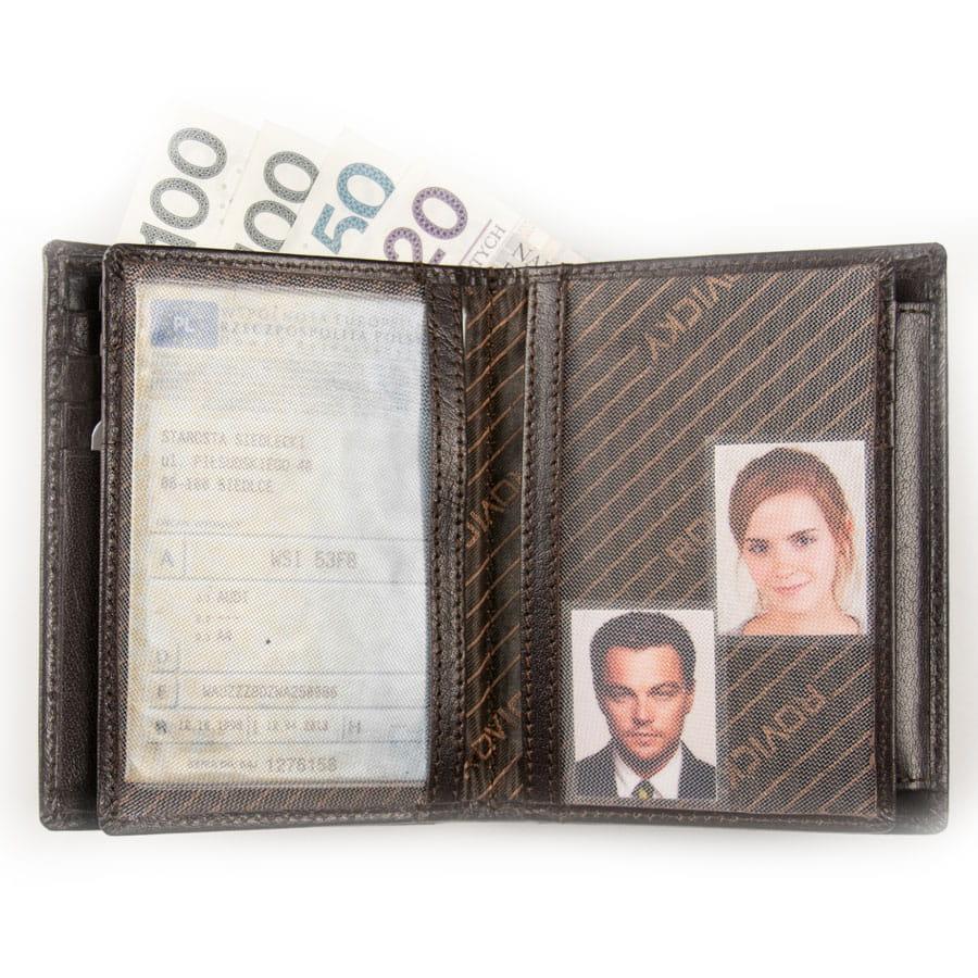891f4a94643a6 ... Męski portfel skórzany z miejscem na dowód rejestracyjny pojazdu ...