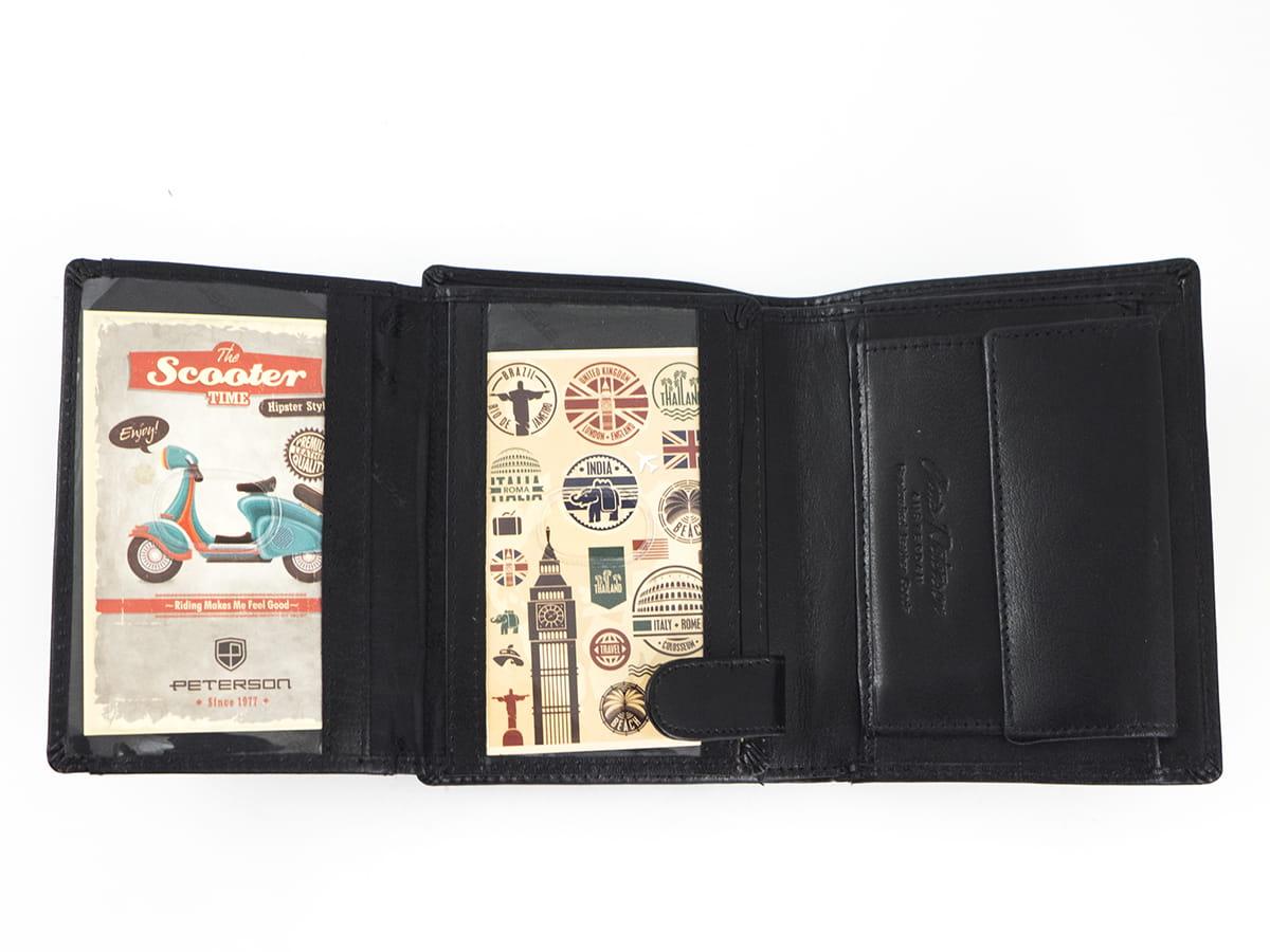 19251ef87d1537 Czarny męski portfel skórzany Peterson 348-2-1-1 | Sklep Internetowy ...